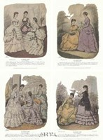 French Fashion Set (Set of Four) Fine-Art Print