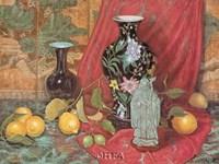 Lemons with Black Vase Fine-Art Print