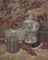 Eucalyptus with Lotus Vase Fine-Art Print