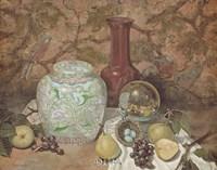 Ginger Jar with Bird Nest Fine-Art Print
