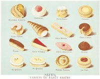 Variety of Fancy Pastry Fine-Art Print