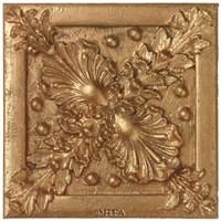 Copper Floral Rosette Fine-Art Print