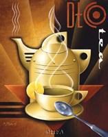 Deco Tea Framed Print