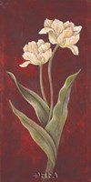 Tulips on Cinnabar I Fine-Art Print