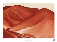 The Red Hills, Grey Sky Fine-Art Print