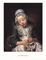 Young Knitter Asleep Fine-Art Print