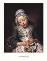 Young Knitter Asleep Fine-Art Print