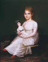 Girl Holding a Doll Fine-Art Print