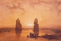 Statues of Memnon at Thebes Fine-Art Print