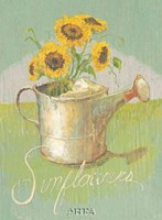 Watering Can with Sunflowers Fine-Art Print