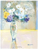 Daisies and Pansies, a Loose Bond Fine-Art Print
