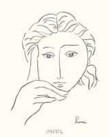 Woman's Face Sketch I Fine-Art Print
