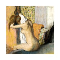 After the Bath, Woman Drying her Neck Fine-Art Print