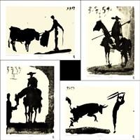 Picasso's Bullfight Set (set of four prints each 14.5 x 19.5) Fine-Art Print