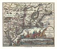 Map of North Eastern America Fine-Art Print