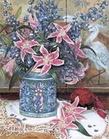 Pink Tiger Lilies with Cinnabar Fine-Art Print