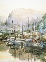 Boats Near Mendocino Fine-Art Print