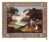Peaceable Kingdom with Border Fine-Art Print