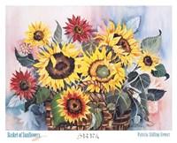Basket of Sunflowers Fine-Art Print
