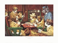 His Station And Four Aces Fine-Art Print