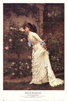 A Girl and Roses Fine-Art Print