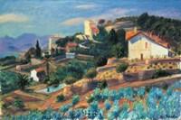 A Riviera Hillside Fine-Art Print