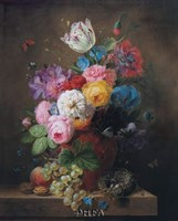 A Rich Still Life of Roses Fine-Art Print