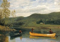 Men in Two Canoes Fine-Art Print