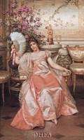 Lady with the Fan Fine-Art Print