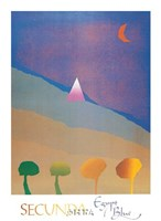 Egypt Blue/One Moon/Four Trees Fine-Art Print