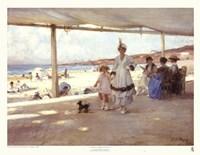 Figures on a Veranda by the Beach Fine-Art Print