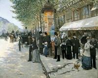 Paris on the Boulevard, 1890 Fine-Art Print