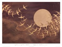 Cranes Over Moon Fine-Art Print