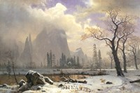 Yosemite Winter Scene Fine-Art Print