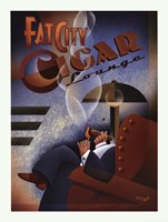 Fat City Cigar Lounge Fine-Art Print
