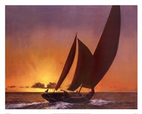 Sails In The Sunset Fine-Art Print