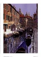 La Barche Sul Canale Fine-Art Print