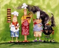 BBQ Chefs II Fine-Art Print