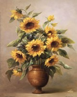 Sunflowers In Bronze I Fine-Art Print