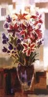 Lilies in Purple Vase Fine-Art Print