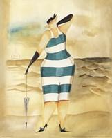 Baigneur de Soleil I (blue stripes) Fine-Art Print