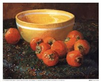 Yellow Bowl With Persimmons Fine-Art Print
