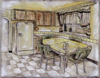 Mid Century Kitchen I (Sm) Fine-Art Print