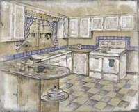 Mid Century Kitchen II (Sm) Fine-Art Print