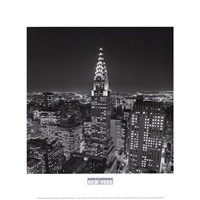 New York, New York, Chrysler Building at Night Fine-Art Print