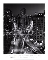 New York, New York, Flatiron Building at Night Fine-Art Print