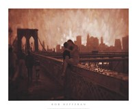 Les Amoureux de Brooklyn Bridge Fine-Art Print