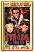 La Strada Film In Italian Wall Poster