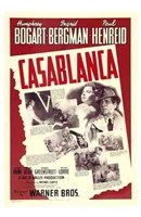 Casablanca Red Wall Poster