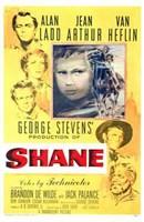 Shane George Stevens Alan Ladd Jean Arthur Van Heflin Fine-Art Print